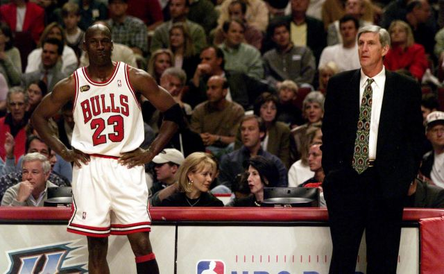 Michael Jordan in Jerry Sloan sta bila na nasprotnih straneh v finalu leta 1998. FOTO: USA Today Sports