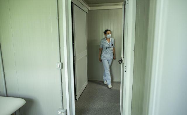 Predstavitev novih začasnih prostorov COVID ambulant na kliniki za infekcijske bolezni. FOTO: Voranc Vogel
