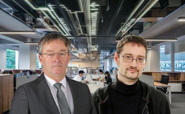 Dr. Jure Knez (desno) in Dušan Olaj (levo) - podjetnika in člana t.i.Lahovnikove skupine.Foto Osebni Arhiv Osebni Arhiv