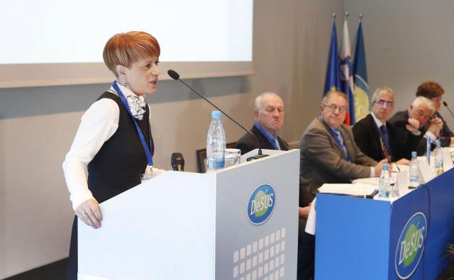 Vodstvo stranke, ki jo vodi Aleksandra Pivec (na fotografiji) je na zadnjih sestankih poudarjalo potrebo po izvajanju aktivnosti iz koalicijske pogodbe. Foto Leon Vidic