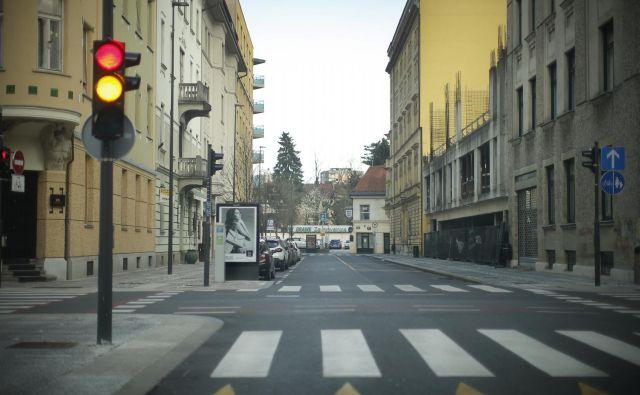 Popolna zapora bo na koncu Dalmatinove ulice. FOTO: Jure Eržen/Delo