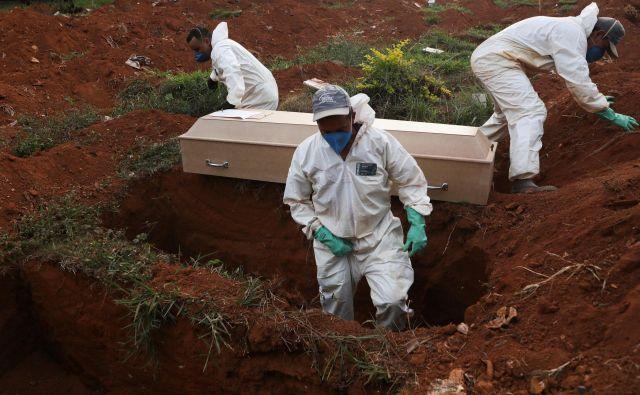 Doslej je bil virus v Braziliji usoden za več kot 22.000 bolnih. Foto Reuters