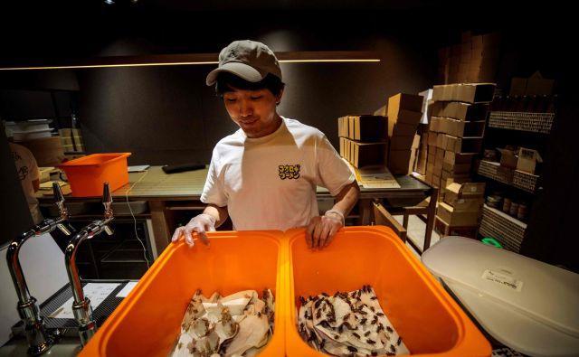 Mladi kuhar Juta Šinohara v Tokiu pripravlja kaj nenavadne poslastice. FOTO: AFP<br />