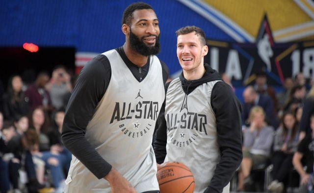 Andre Drummond in slovenski as Goran Dragić sta bila tudi soigralca na tekmi vseh zvezd. FOTO: USA Today Sports