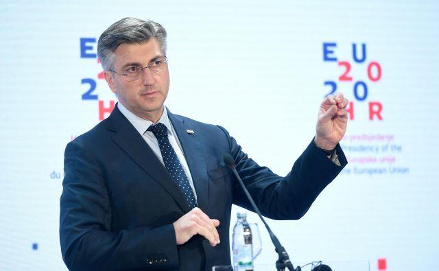 Premier Andrej Plenković ob vsaki priložnosti poudarja, da je njegova vlada izpolnila vse strateške cilje. Foto: Goran Mehkek/Cropix