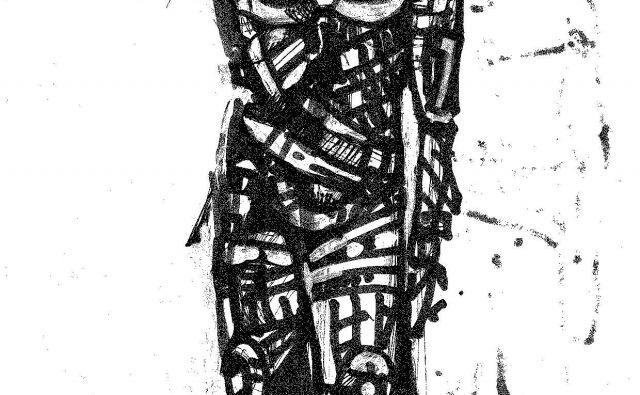 Osnutek za skulpturo rudarja Prometeja, delo Zorana Pozniča. FotoFOTO: Arhiv TNM