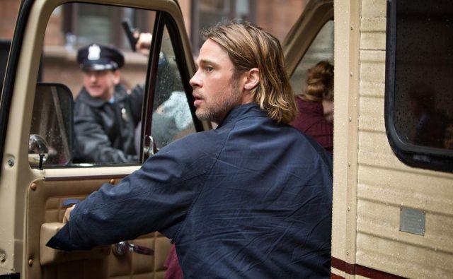 V filmu <em>World War Z.</em> je imel tudi daljše, a bolj urejene lase. FOTO: Press Release