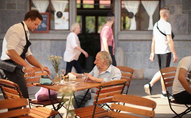 Kriza je doslej najbolj prizadela poklice v gostinstvu, zlasti natakarje in kuharje. FOTO: Jure Eržen/Delo