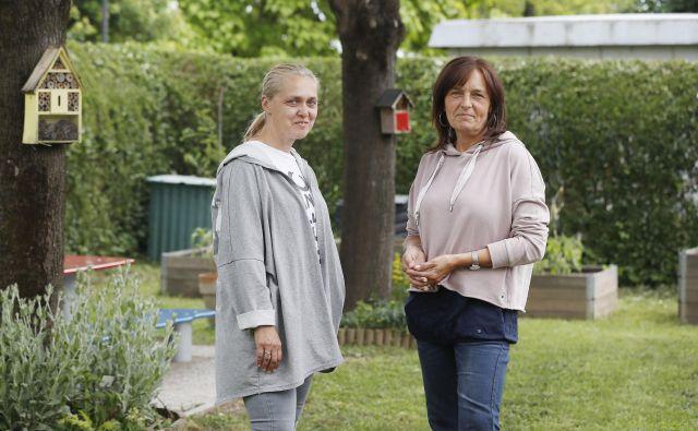 Maja Klančnik in Zdenka Morela sta pomočnici vzgojiteljice v vrtcu Jarše. Foto Leon Vidic