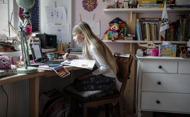 Učenje na daljavo v času epidemije koronavrusa. FOTO: Uroš Hočevar/Delo