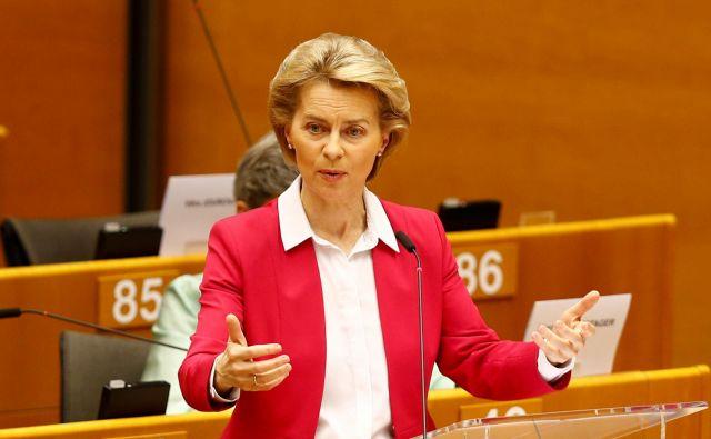 Predlog za sklad za okrevanje, ki ga je včeraj predstavila predsednica evropske komisije Ursula von der Leyen, je korak v pravo smer in bi moral čim prej zaživeti v praksi. FOTO: Reuters