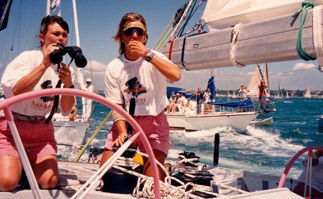 Z dokumentarcem <em>Jadralke</em> o skiperki prve jadrnice z izključno žensko posadko na najbolj ekstremni regati na svetu so odprli sezono v Linhartovi dvorani v Radovljici. Foto Kinodvor