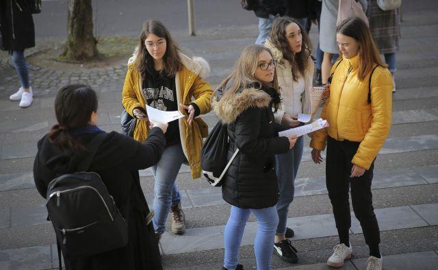 Informativni dan na Filozofski fakulteti februarja letos. FOTO: Jože Suhadolnik/Delo