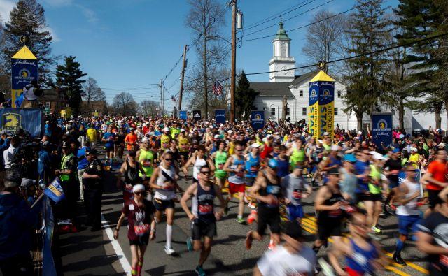 Tradicija maratona v Bostonu je dolga že 124 let. FOTO: Reuters