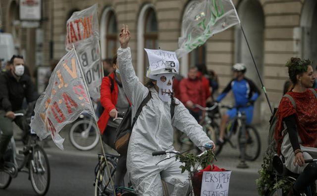 Protivladni kolesarski protesti v Ljubljani 29.05.2020 FOTO: Blaž Samec