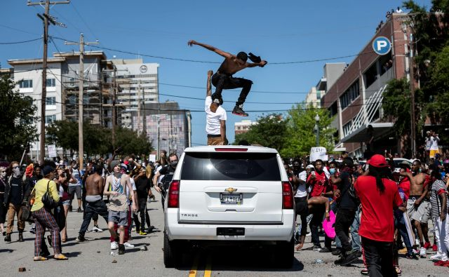 Protesti v Columbii, prestolnici Južne Karoline Foto Reuters