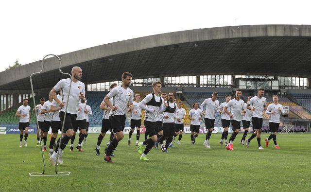 Nogometaši Maribora so se med prvimi začeli pripravljati na svojem štadionu. FOTO: NK Maribor