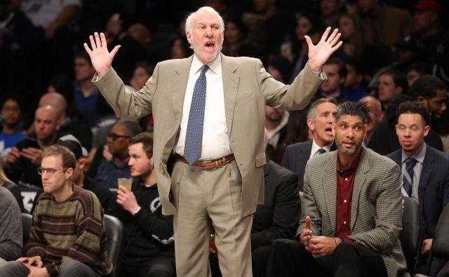 Gregg Popovich je petkratni zmagovalec lige NBA s San Antoniom. FOTO: USA Today Sports