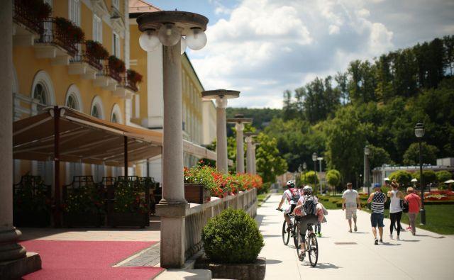 Približno 85 odstotkov gostov Rogaške Slatine je tujih, zato je kriza tam še hujša. FOTO: Jure Eržen/Delo