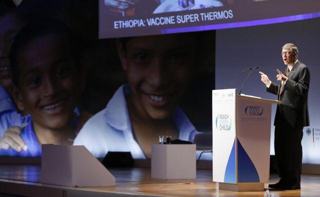 Ameriški milijarder in filantrop Bill Gates je ustanovitelj zavezništva za cepljenje Gavi in eden od njegovih največjih donatorjev. FOTO: Reuters