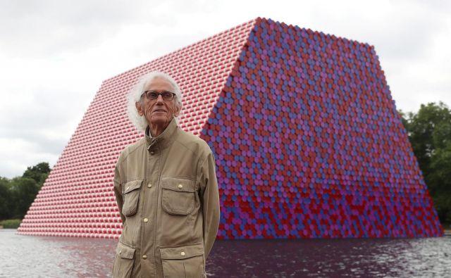 Londonska Mastaba je bil njegov zadnji veliki projekt, prihodnje leto bodo po njegovih načrtih preoblekli pariški Slavolok zmage. Foto Reuters