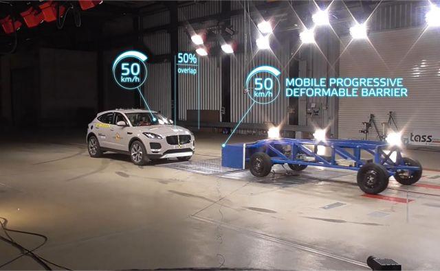 Euro NCAP po 23 letih spreminja način izvedbe čelnega trka s prekrivanjem. Po novem bodo presojali tudi učinke testiranega vozila na vozilo, s katerim se zaleti. FOTO: Euro NCAP
