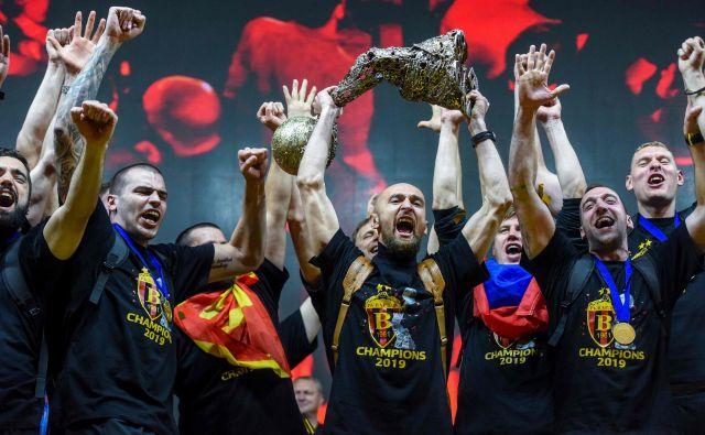 Pred natanko leto dni so v središču Skopja slavili drugi zaporedni naslov erevopskega prvaka. FOTO: AFP