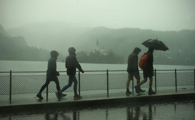 Predvsem na zahodu Slovenije bodo v noči na petek krajevno močni nalivi.FOTO: Jure Eržen/Delo