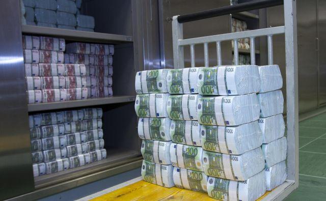 ECB je marca napovedala 750 milijard evrov vreden program odkupovanja zasebnih in javnih dolžniških vrednostnih papirjev. FOTO: Banka Slovenije
