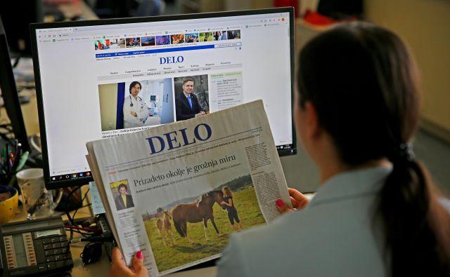 Na Delu vam tako v tiskani kot v spletni verziji ponujamo verodostojne informacije. FOTO: Jože Suhadolnik/Delo