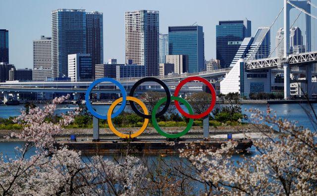 Olimpijske igre v Tokiuso bile zaradi pandemije novega koronavirusa prestavljene na prihodnje leto. FOTO: Issei Kato/Reuters