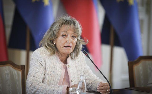 Barbara Zobec na predstavitvi za članico ustavnega sodišča. FOTO: Jože Suhadolnik/Delo