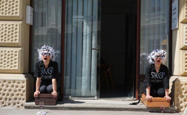 <em>Vstop prost</em> je festival urbanih umetniških akcij. FOTO: Brane Piano