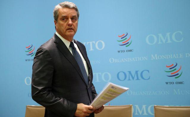 Konec avgusta bo dosedanji direktor WTO Roberto Azevêdo predčasno končal mandat. FOTO: Denis Balibouse/Reuters