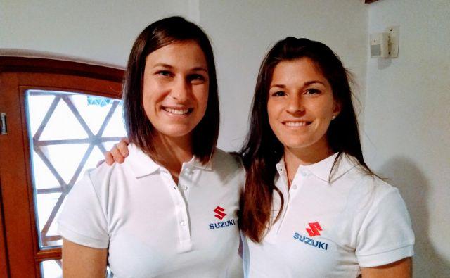 Sestri Anja Štangar in Maruša Štangar (desno) sta trdno odločeni, da bosta prihodnje leto skupaj odpotovali na olimpijske igre v Tokiu. FOTO: Miha Šimnovec