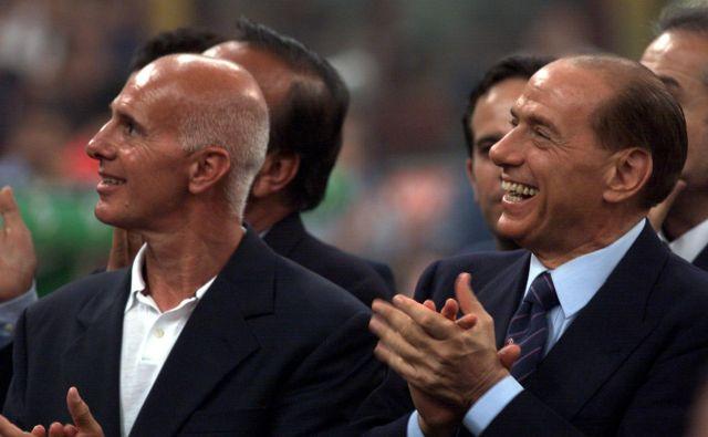 Kot predsednik in lastnik Milana je Silvio Berlusconi osvojil štiri naslove evropskega prvaka, eden od njegov trenerskih odkritij pa je bil Arrigo Sacchi, ki je Milan na evropski vrh popeljal v letih 1989 in 1990. FOTO: Reuters