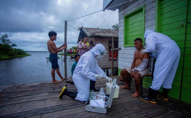 Z novim koronavirusom se je okužilo vsaj 742.084 Brazilcev in jih umrlo najmanj 38.497. FOTO: Tarso Sarraf/AFP