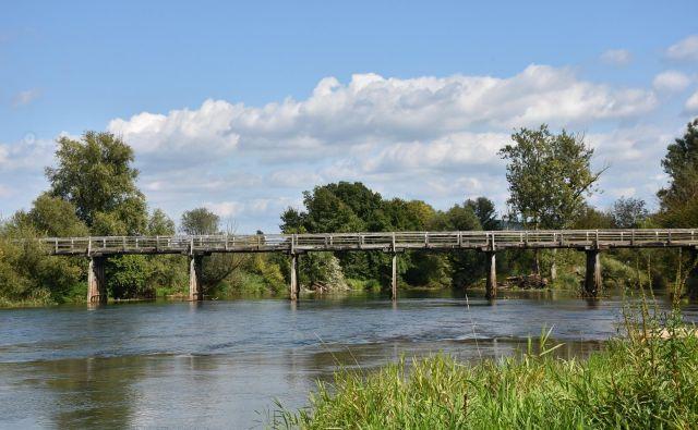 Sto osem metrov dolg leseni most bodo obnovili. FOTO: Občina Brežice