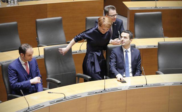 Prvak NSi Matej Tonin še vedno nasprotuje vlogi urada za demografijo, kot si ga je zamislila predsednica Desusa Aleksandra Pivec. FOTO: Foto Uroš Hočevar