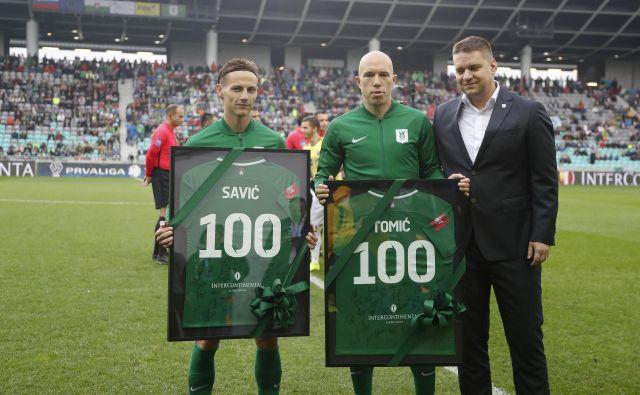 Stefan Savić je s kapetanom Tomislavom Tomićem prišel v Olimpijo poleti 2017 in je za njo že igral več kot sto tekem v vseh tekmovanjih. FOTIO: Leon Vidic/Delo