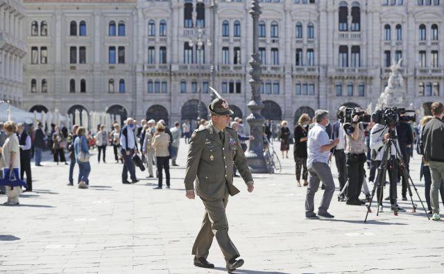 Danes so v Trstu zaznamovali nov praznik, in sicer dan odhoda jugoslovanskih vojakov iz mesta leta 1945. FOTO: Leon Vidic/Delo