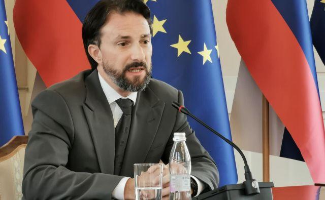 Andraž Teršek na javni predstavitvi za mesto sodnika ustavnega sodišča. FOTO: Jože Suhadolnik/Delo