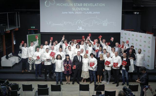 Po slavnostni podelitvi Michelinovih zvezdic in drugih priznanj iz prvega Michelinovega vodiča po Sloveniji na Ljubljanskem gradu. FOTO: Uroš Hočevar