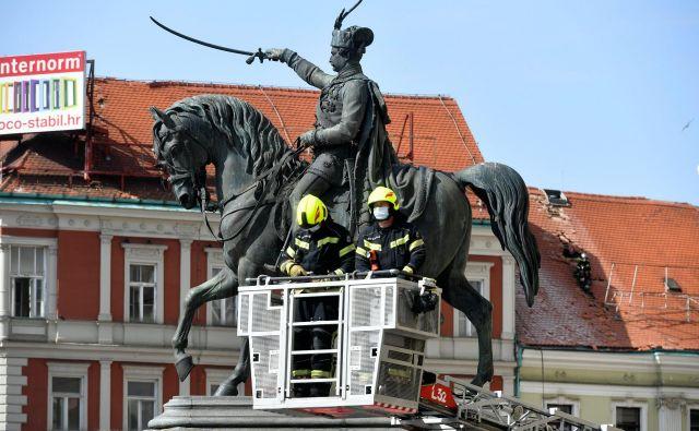Zagreb je prizadel že približno tisoči potres v treh mesecih. FOTO: Goran Mehkek /Cropix