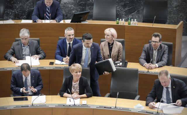 Predsednica Desusa Aleksandra Pivec bo z mestom nadzornika SDH svoji stranki najverjetnje lažje upravičila obstanek v desnosredinski koaliciji. FOTO: Uroš Hočevar/Delo
