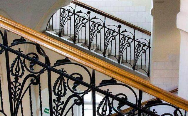 Detajl stopnišča šole za slepe, Budimpešta. Foto Artnouveau-net.eu