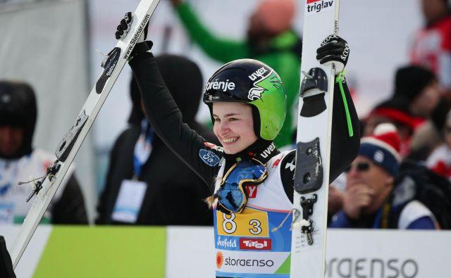 Nika Križnar bo najbolj zadovoljna takrat, ko bo premagala vse tekmice. Foto Reuters
