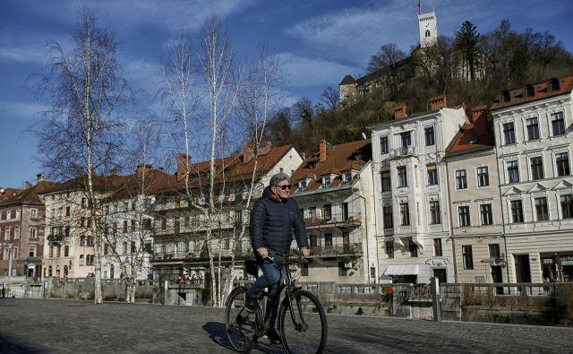 Kolesarjenje je v Ljubljani vedno bolj priljubljena oblika mobilnosti. FOTO: Blaž� Samec/Delo