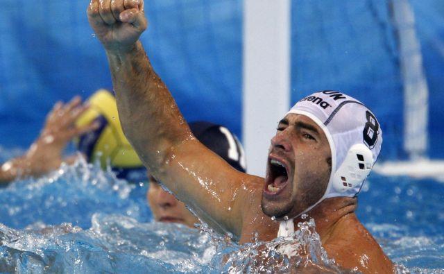 Tibor Benedek je bil vselej med osrednjimi junaki velikih vaterpolskih tekmovanj. FOTO: Laszlo Balogh/Reuters