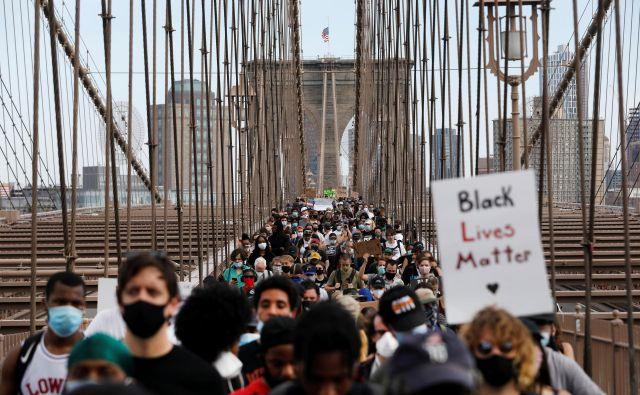 Življenje temnopoltih šteje.<br /> FOTO: Andrew Kelly/Reuters
